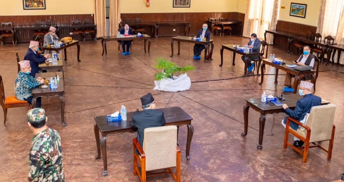 Photo of नेकपा सचिवालय बैठकमा दुई अध्यक्षको प्रतिवेदनमाथि छलफल